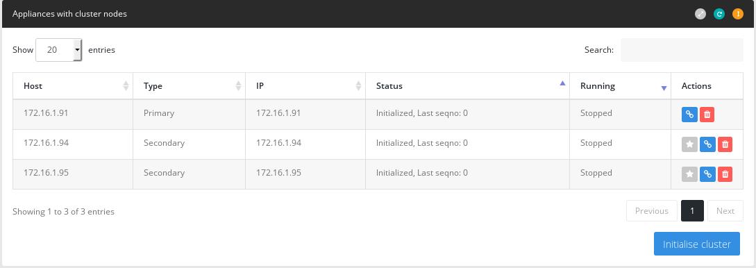 Database cluster node management